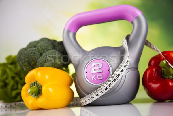 Vers voedsel maatregel dieet fitness sport Stockfoto © JanPietruszka
