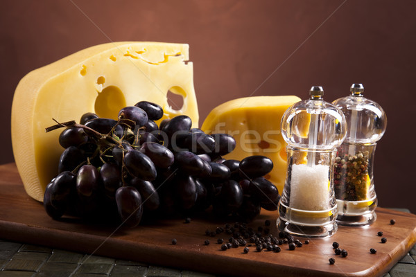 Cheese composition, saturated ambient rural theme Stock photo © JanPietruszka