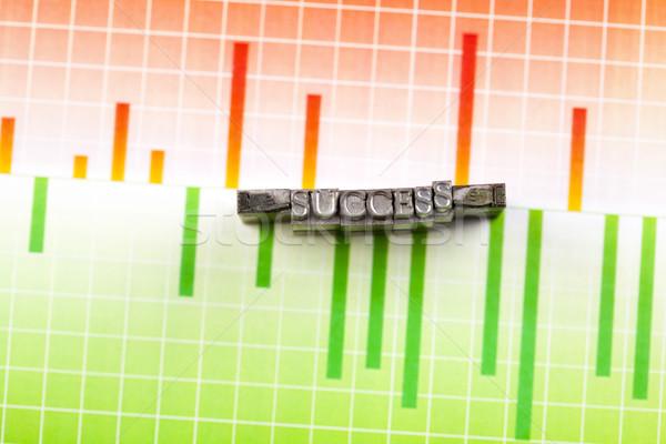 Tipográfia siker fényes színes üzlet papír Stock fotó © JanPietruszka
