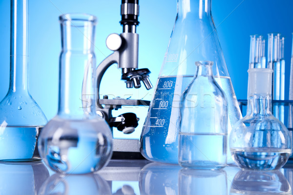 Laboratórium üvegáru hely tudományos kutatás környezeti kutatás Stock fotó © JanPietruszka