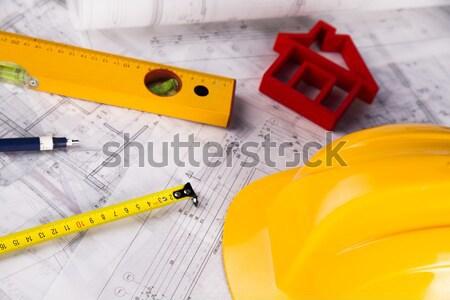 Közelkép terv építészet művészet tudomány épületek Stock fotó © JanPietruszka