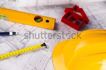 Close up of a blueprint Stock photo © JanPietruszka