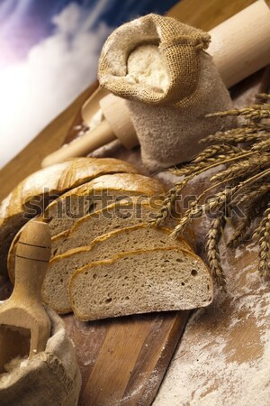 Flour and traditional bread Stock photo © JanPietruszka