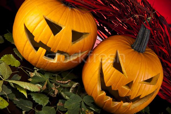 Scary Jack, halloween pumpkin Stock photo © JanPietruszka