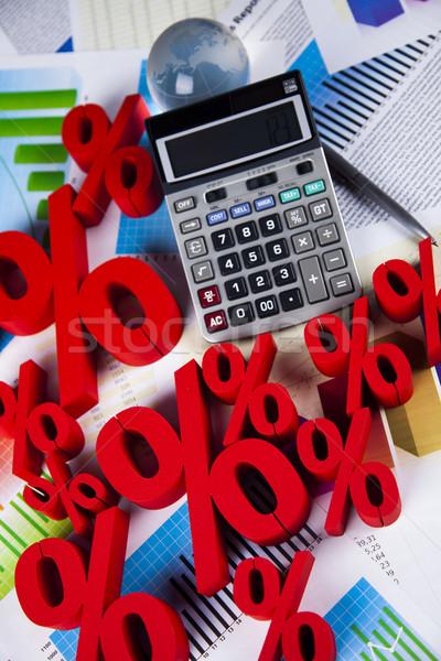 Vásár százalék felirat természetes színes piros Stock fotó © JanPietruszka