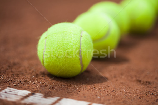 Deporte raqueta de tenis fondo deportes tierra Foto stock © JanPietruszka