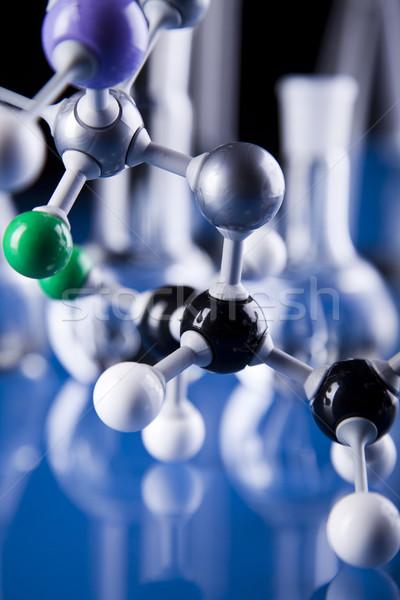Chemistry on background, bright modern chemical concept Stock photo © JanPietruszka