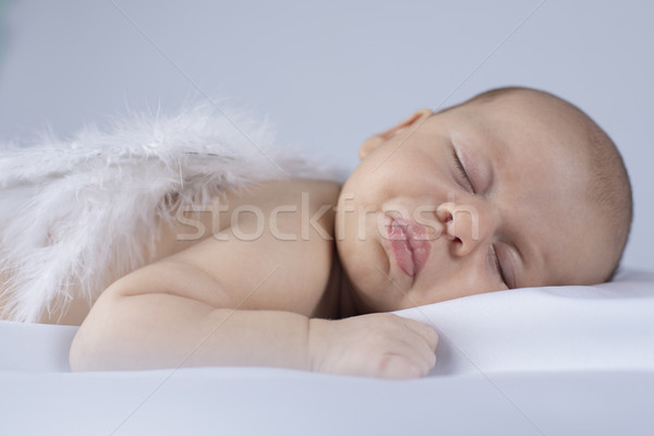 Baby slapen engel home kid grappig Stockfoto © JanPietruszka