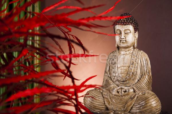 Photo stock: Buddha · statue · méditation · soleil · fumée · détendre