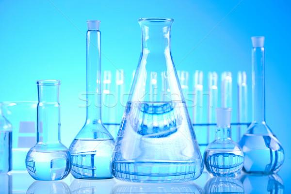 Steril laboratuvar cam tıbbi laboratuvar kimyasal Stok fotoğraf © JanPietruszka