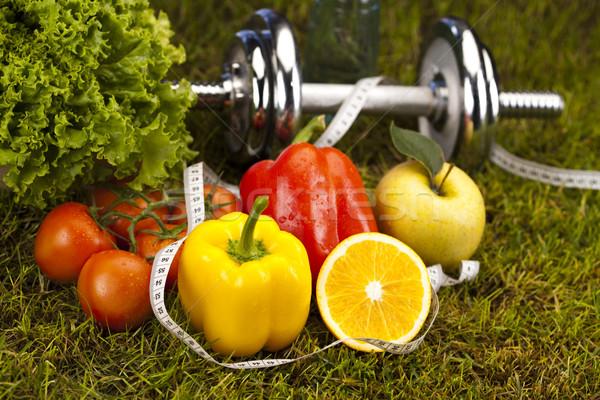 Stok fotoğraf: Vitamin · uygunluk · diyet · yeşil · ot · sağlık · enerji