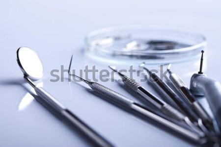 Diş hekimliği diş araçları tıp ayna araç Stok fotoğraf © JanPietruszka