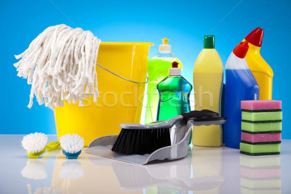 дома очистки продукт работу домой бутылку Сток-фото © JanPietruszka