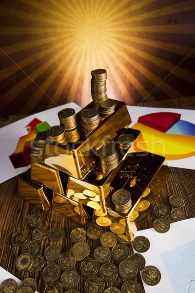 Pyramid from Gold Bars Stock photo © JanPietruszka