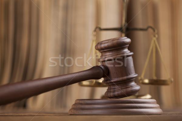 Foto stock: Ley · juez · martillo · justicia · martillo