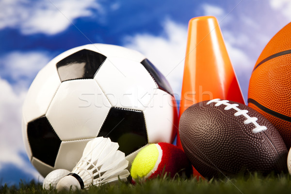 Sports Equipment and grass, natural colorful tone Stock photo © JanPietruszka