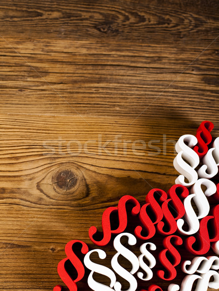 Law book with paragraphs, natural colorful tone Stock photo © JanPietruszka