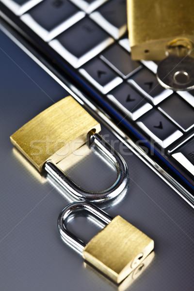 Computer Security conception, modern network symbols concept Stock photo © JanPietruszka