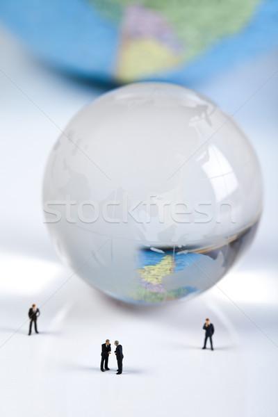 A team works together, financial bright vivid theme Stock photo © JanPietruszka