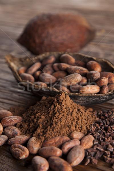 Kakao fasulye toz gıda tatlı aromatik Stok fotoğraf © JanPietruszka