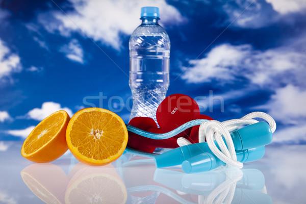 Fitness dieet sport energie vet blauwe hemel Stockfoto © JanPietruszka