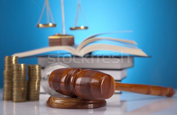 ストックフォト: 法 · 裁判官 · 木製 · 小槌 · 木材 · ハンマー