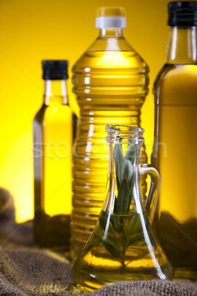 Extra maagd olijfolie boom zon vruchten Stockfoto © JanPietruszka