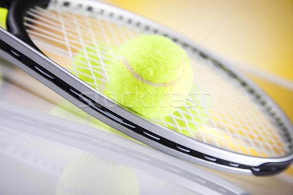 Teniszütő labda háttér testmozgás szolgáltatás játék Stock fotó © JanPietruszka