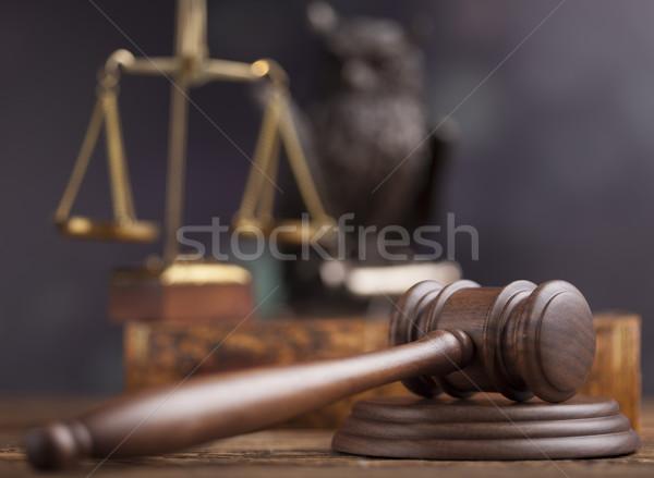 судья прав правосудия молота суд правовой Сток-фото © JanPietruszka