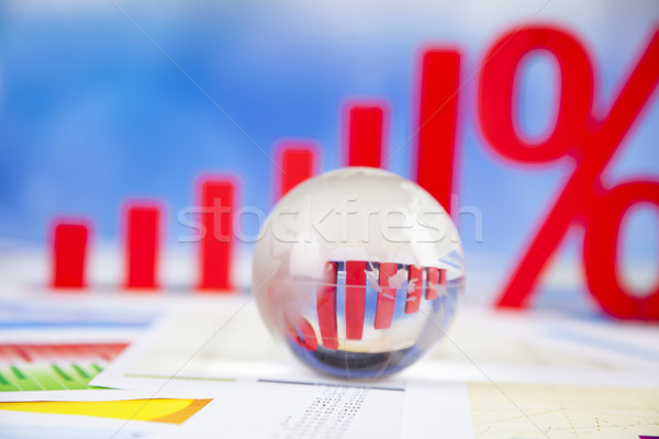 Finance concept, Percent, natural colorful tone Stock photo © JanPietruszka
