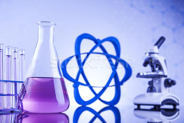 Stok fotoğraf: Bilim · kimyasal · laboratuvar · züccaciye · sağlık · mavi