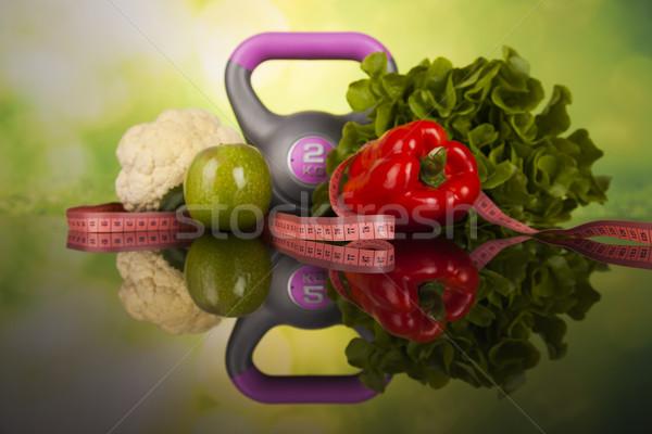 świeże jedzenie środka diety fitness sportu Zdjęcia stock © JanPietruszka