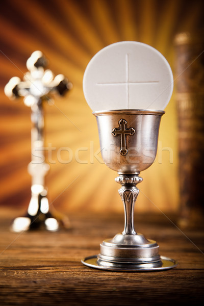 Holy of communion, bright background, saturated concept Stock photo © JanPietruszka