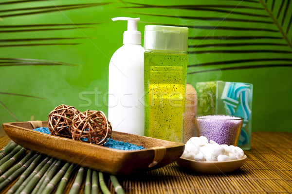 Herbal salt and spa, fresh and organic concept Stock photo © JanPietruszka