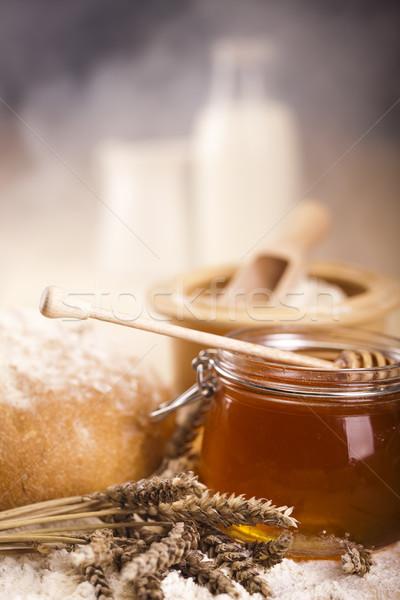 Сток-фото: товары · хлеб · яркий · цветами · природного