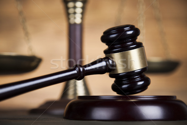 Law wooden gavel barrister, justice concept, legal system  Stock photo © JanPietruszka