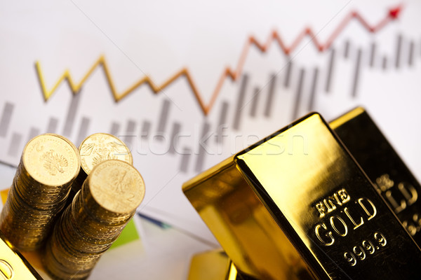 Gold bars background Stock photo © JanPietruszka