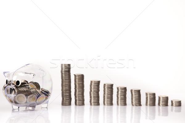 Spaarvarken vak financieren varken goud markt Stockfoto © JanPietruszka