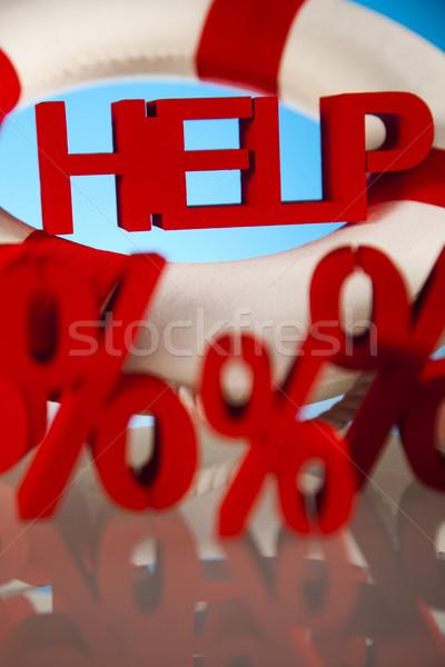 Kryzys pomoc finansów ceny arrow wsparcia Zdjęcia stock © JanPietruszka