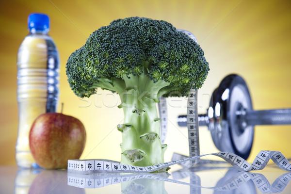 Fitnessz étel diéta zöldség napsütés nap Stock fotó © JanPietruszka