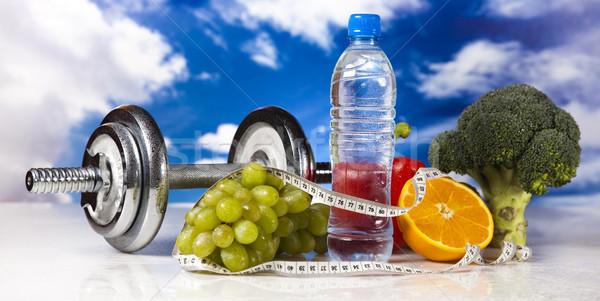 Alimentos frescos medir dieta comida fitness fruto Foto stock © JanPietruszka