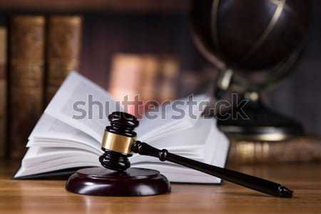 Stock photo: Judges wooden gavel, ambient light vivid theme