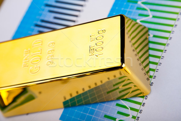 Financial indicators,Chart,Gold bar Stock photo © JanPietruszka