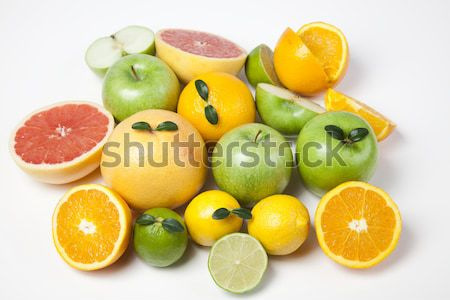 óra gyümölcsök eszik vásárol fényes színes Stock fotó © JanPietruszka