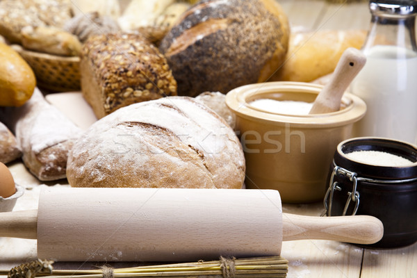 Bread composition Stock photo © JanPietruszka