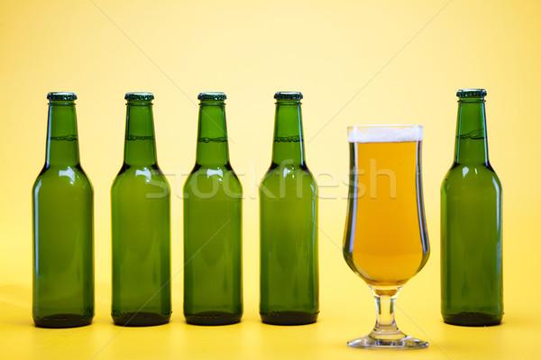 Green bottle of beer  Stock photo © JanPietruszka