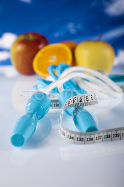 étel mérés fitnessz sport energia kövér Stock fotó © JanPietruszka