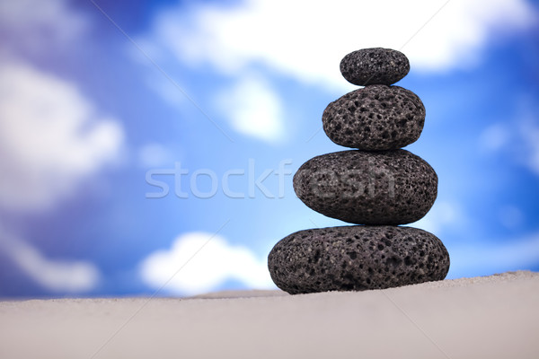 Stok fotoğraf: Zen · taş · grup · kaya · dinlenmek · hayat