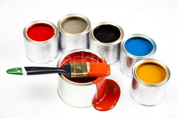 Festék fényes színes absztrakt terv otthon Stock fotó © JanPietruszka