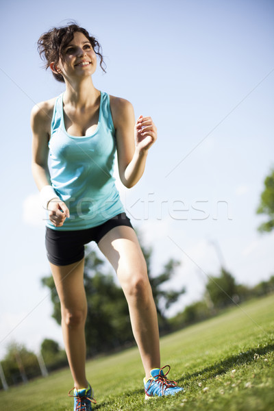 Training woman and healthy lifestyle Stock photo © JanPietruszka